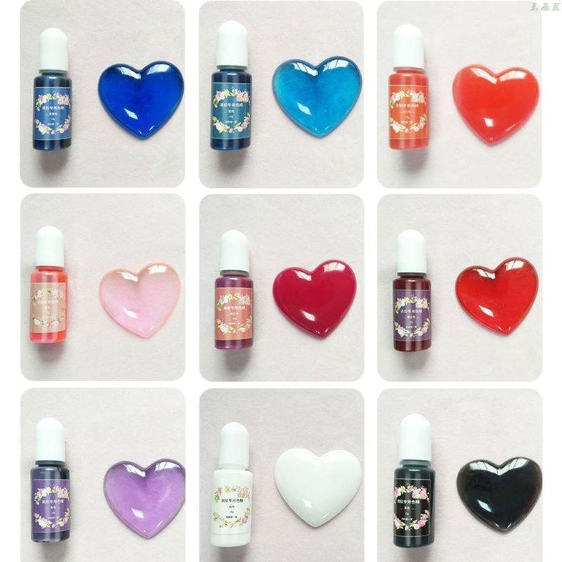 20 Color Epoxy Resin Pigment Kit Liquid  Epoxy Resin Colorant Dye Jewelry Making PXPC