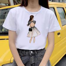Модная женская летняя футболка с принтом 2020 лаком для ногтей