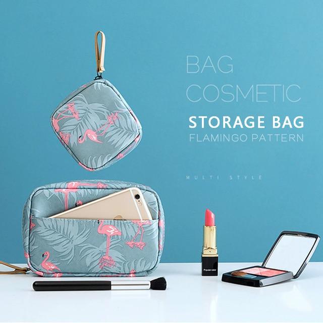 المحمولة السفر حقائب التجميل قلم روج صغير حقيبة المرأة مستلزمات التجميل المنظم حقيبة مستحضرات تجميل مقاوم للماء الإناث تخزين يشكلون حالات