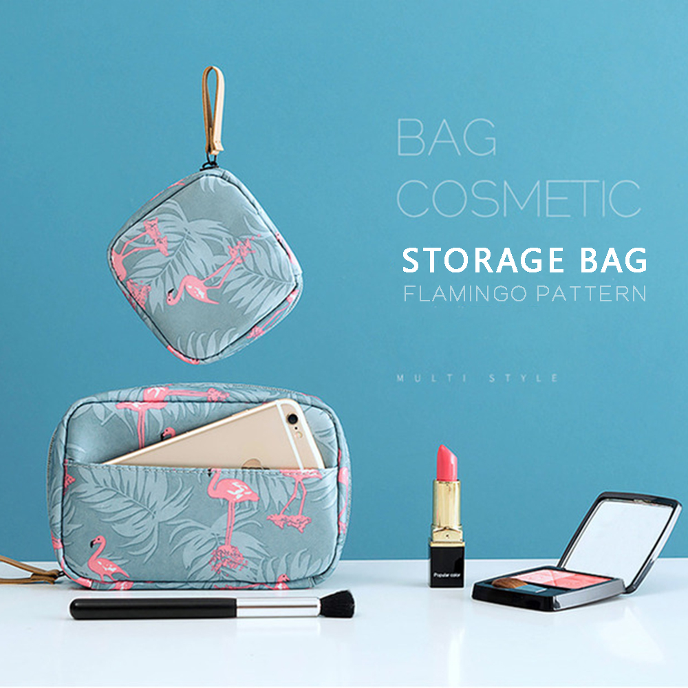 Portable Travel Cosmetic Bags Mini Lipstick Bag Women Toiletries Organizer Makeup Bag Waterproof Female Storage Make Up Cases-in Storage Bags from Home & Garden