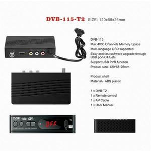 Image 5 - DVB T2 HDMI HD 1080P ในตัวรัสเซียคู่มือ USB2.0 DVBT2 ทีวีกล่อง DVB T2 จูนเนอร์รับสัญญาณดาวเทียมถอดรหัสสำหรับจอภาพอะแดปเตอร์