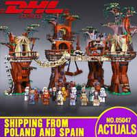 DHL 05047 series Star Wars El 10236 Ewok pueblo bloques de construcción Juguete Para Construir ladrillos juguetes Para niños regalos de navidad