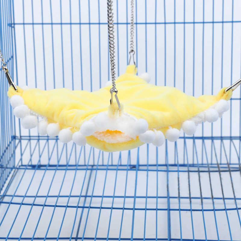 1pc Sfera Sveglia di Lato A Vite Senza Fine Breve Peluche Criceto Zucchero Vela Amaca Gabbia di Uccello Uccello Scoiattolo Volante Letto A Dormire Gabbia Piccola Gabbia di animali da Compagnia