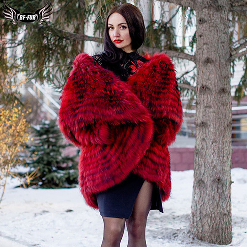 Fashion Genuine Sliver Fox Fur Coat With Big Lapel Collar Woman Natural Real Fox Fur Capes And Poncho Plus Size Winter Overcoat