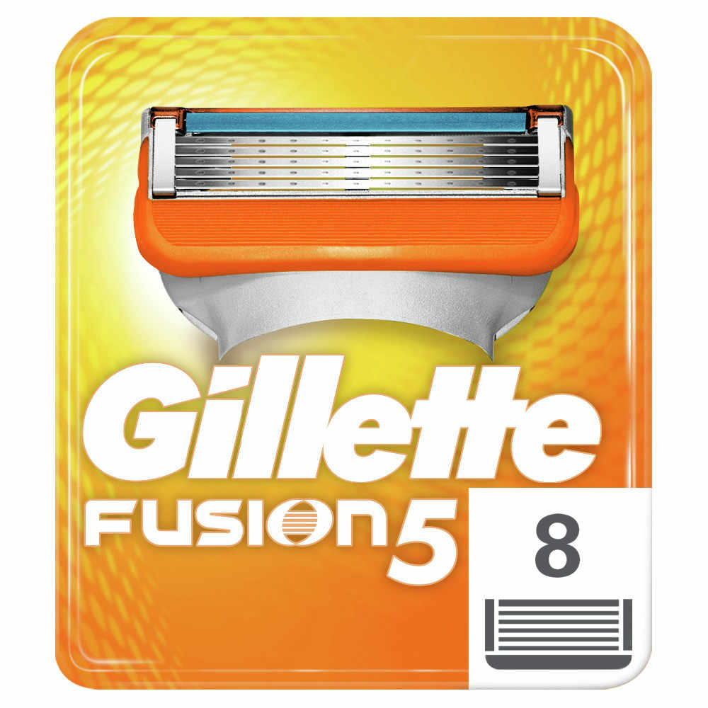 Removable Razor Blades for Men Gillette Fusion 5 Blade for Shaving 8 Replaceable Cassettes Shaving Fusion Cartridge