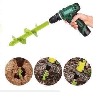 Image 5 - Nuevo Modelo de barrena de 80MM22CM/30CM de largo, taladro de barrena, taladro de jardín, taladro de tierra, maceta de taladro de bulbo de flores para taladro eléctrico 3/8