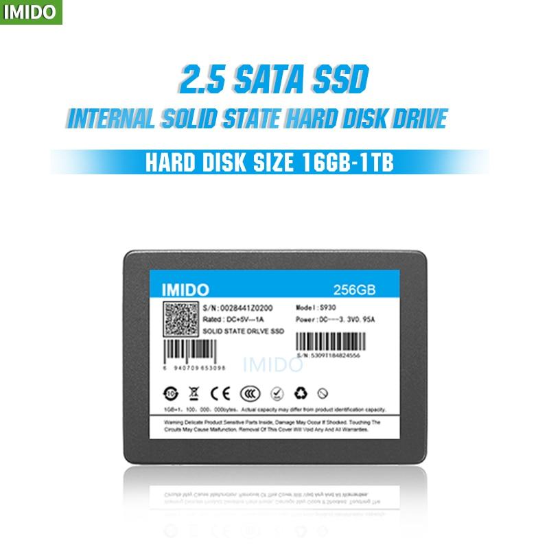"""IMIDO SSD 32GB 64GB 128GB 256GB 512GB 1TB 2TB SSD 2.5 Hard Drive Disk Disc Solid State Disks 2.5 """" Internal SSD 16GB"""