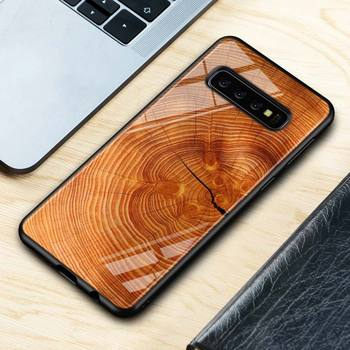 Galaxy S10 Plus Texture Wood Case