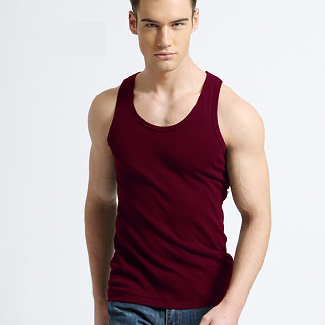 TFETTER Men's Underwear Cotton Tank Top Men High Quality Bodybuilding Singlet Sleeveless Slim Fit Vest Men Tank Tops 1