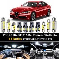 11pc x 완벽한 오류 없음 LED 전구 인테리어 돔지도 라이트 키트 패키지 2010-2017 Alfa Romeo Giulietta 940