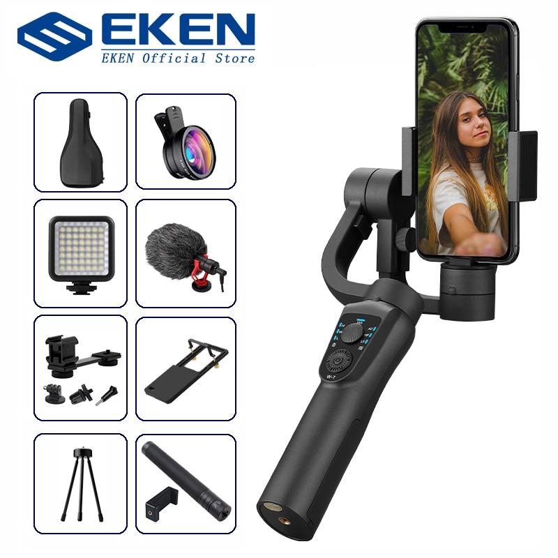 Экшн-камера EKEN S5B 3-х осевой ручной шарнирный стабилизатор для камеры GoPro мобильный телефон с функцией видеозаписи смартфона gimbal для телефон...