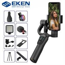 EKEN-Estabilizador portátil S5B para gravação de vídeo com celular, 3 eixos, Gimbal, para câmeras de ação VS H4