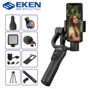 EKEN S5B 3 osiowy kardana ręczna stabilizator telefon komórkowy nagrywanie wideo Smartphone gimbal na telefon kamera akcji VS H4 tanie i dobre opinie 3-osiowy Akcja foto kamery SMARTPHONES CN (pochodzenie) bluetooth Handheld gimbal Rohs Po tryb fotografowania Rozpoznawania twarzy