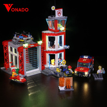 Led light Compatible for LEGO 60216 CITY 19-year city new city fire rescue team City series assembling building blocks toys conquered city