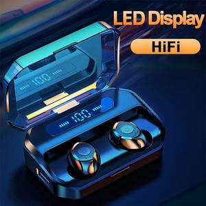 Bluetooth 5,0 наушники с шумоподавлением TWS беспроводные наушники 6D объемный звук игровые гарнитуры с микрофоном спортивные