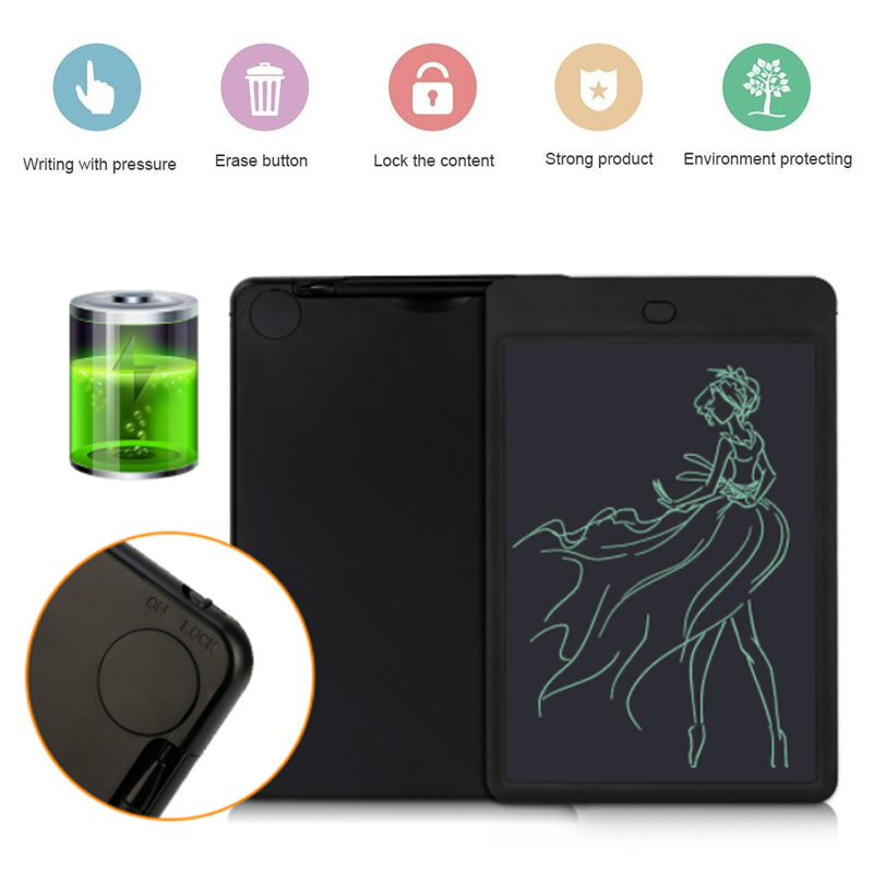 Drawing Boards Portable Durable 25.6 X 16.5 X 0.8cm LCD Computer Peripherals Notepad Writing Board ABS Tablet Handwriting