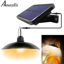 שמש תליון אורות תלייה חיצונית לשפוך שמש מנורת אסם 16 LED אור עבור מטבח גן חצר פטיו מרפסת בית אוטומטי על/כיבוי