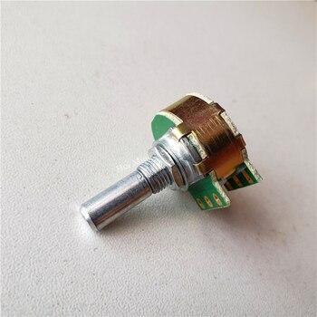1 adet adımlı potansiyometre A10K A20K A50K A100K A250K potansiyometre 21 haneli adım ilerici kolu 20MM çift HIFI amplifikatör