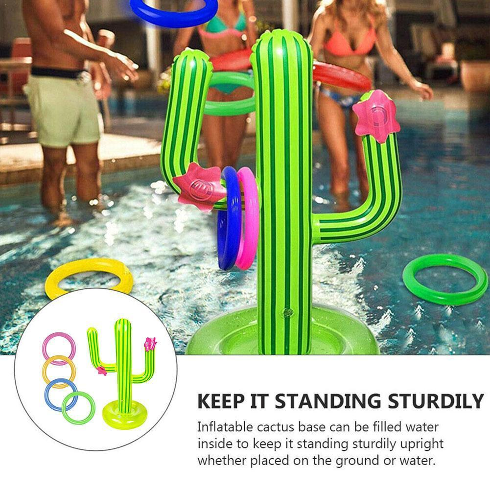 Beach Party Supplies Party Outdoor Swimming Pool New PVC Inflatable Cactus Game Set Floating Pool Toys Ice Bar Travel