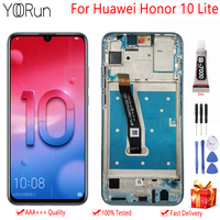 6.21 Original Display For Huawei Honor 10 Lite HRY LX1 LX2 LCD Touch Screen With Frame Digitizer Assembly Replacement Free Tool