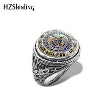 Новое астрономическое стимпанк Винтажное кольцо винтажные часы фото кольца стеклянный купольный кабошон ручной работы изображение ювелирные изделия