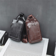 Leisure street chest bag retro trend back wholesale new Korean fashion small backpack for men and women