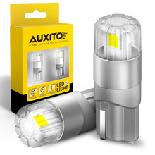 AUXITO 2x T10 LED Canbus Car Lights Bulbs W5W 168 194 LED 3030SMD Interior Lighting Side Dome Mirror Trunk Lamp Red Yellow White