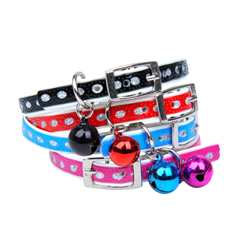 Small Dogs Dogs And Cats Supplies Bell Neck Ring Dog Cat Collar Pet Source 1.0 Cm Pet Collar With Bell