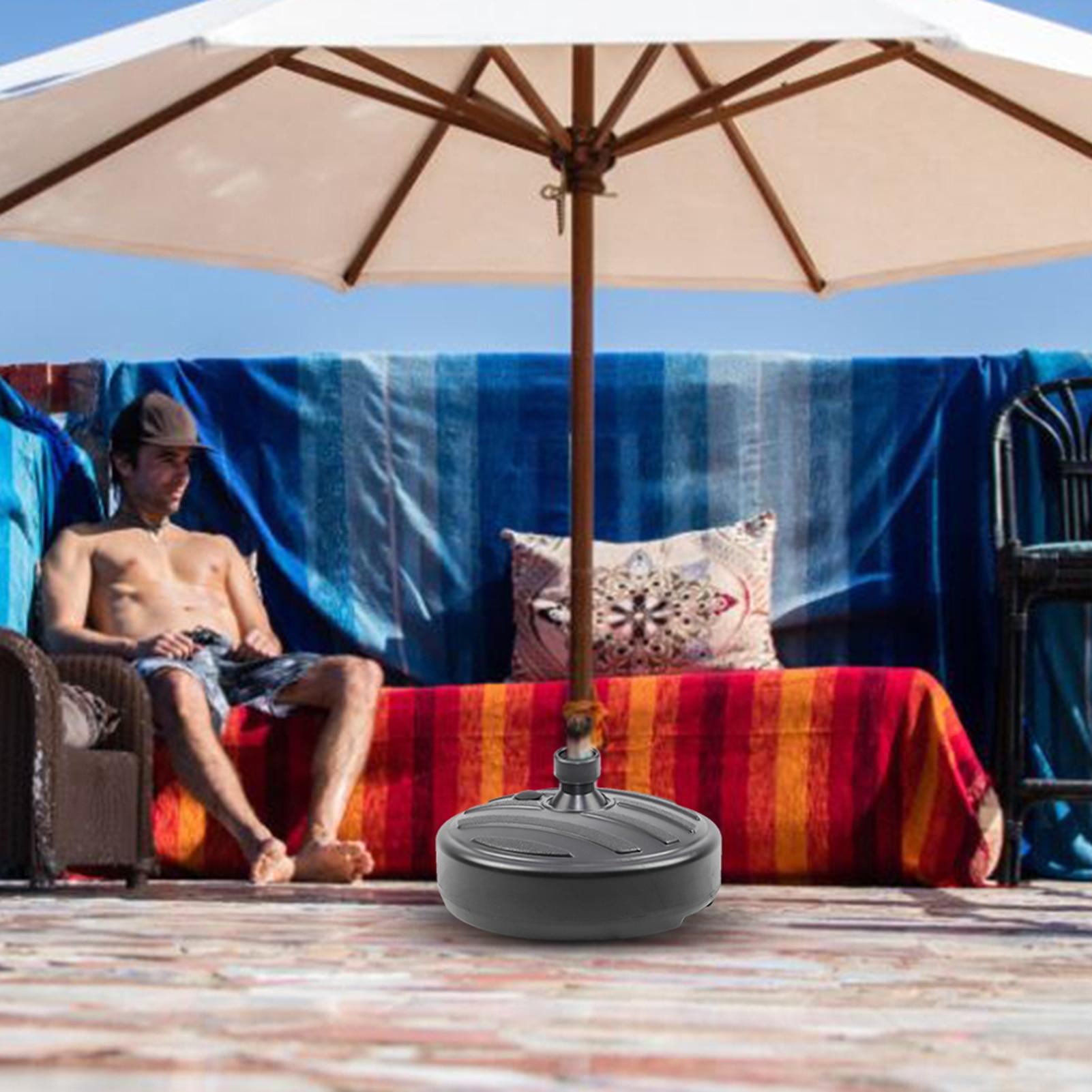Patio Umbrella Base Stand Outdoor Garden Beach Umbrella Stand Plastic Parasol Base 38mm Rod Patio Furniture Base Bracket