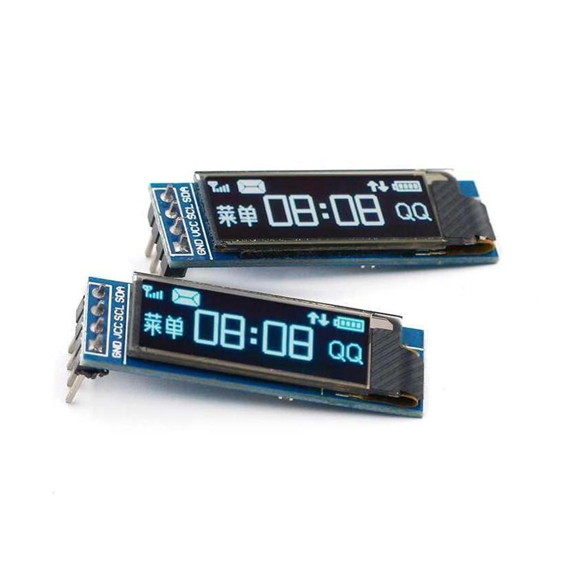 Модуль светодиодного дисплея 0,91 дюйма, белый/синий светодиодный дисплей 128X32, SSD1306 12864 0,91 IIC i2C для общения с ardunio
