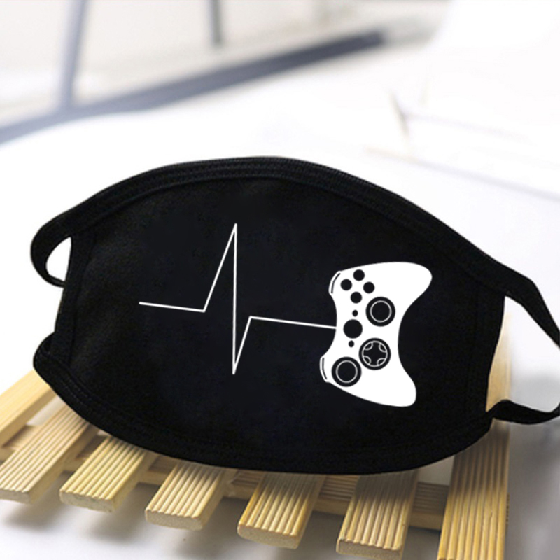Game Console Print Masks Black Breathable High Quality Reusable Washable Male Skin-Friendly Dustproof Anti Haze Comfortable Mask