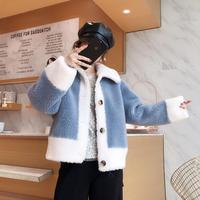2019 New Winter Coat Women sheep sheared coat female Faux Fur Coat lamb hair fashion casual jacket short paragraph