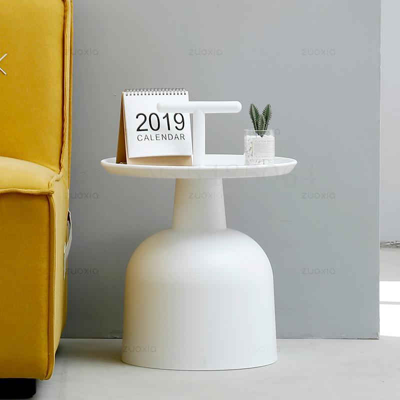Скандинавский минималистичный маленький столик, креативная личность, Маленький журнальный столик для балкона, мини-мобильный угловой стол...
