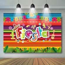Фон для фотосъемки с изображением летней вечеринки мексиканского