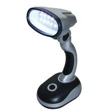 12 Светодиодный рабочий стол, практичная настольная лампа, походный светильник для чтения на батарейках, Портативный Яркий
