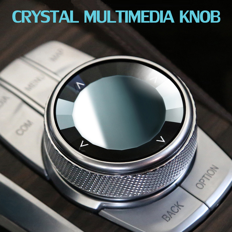 Car Multimedia Crystal Buttons  Knob Switch Cover Stickers For BMW 5 Series G30 G38 G08 X3 F46 F48 X1 G01 6 Series GT Interior