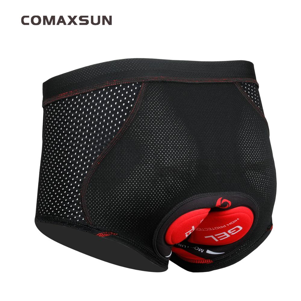 Comaxsun Cycling Underwear Upgrade 5D Padded Cycling Shorts 100% Lycra Shockproof MTB Bicycle Shorts Road Bike Shorts