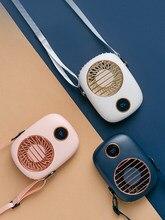 Ventilador de pescoço portátil mini usb 5v cooler recarregável ventilador de viagem ao ar livre portátil silencioso pequeno computador ventiladores de refrigeração led display