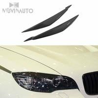 For BMW X6 carbon fiber lamp eyebrow E71 X6 eyebrow Eyeliner headlamp eyelash