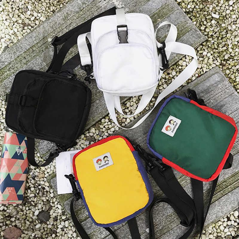 Мини-сумки через плечо из нейлона, повседневные уличные мягкие мини-сумочки для телефона на молнии и сумочки, новинка 2020, сумки-мессенджеры через плечо