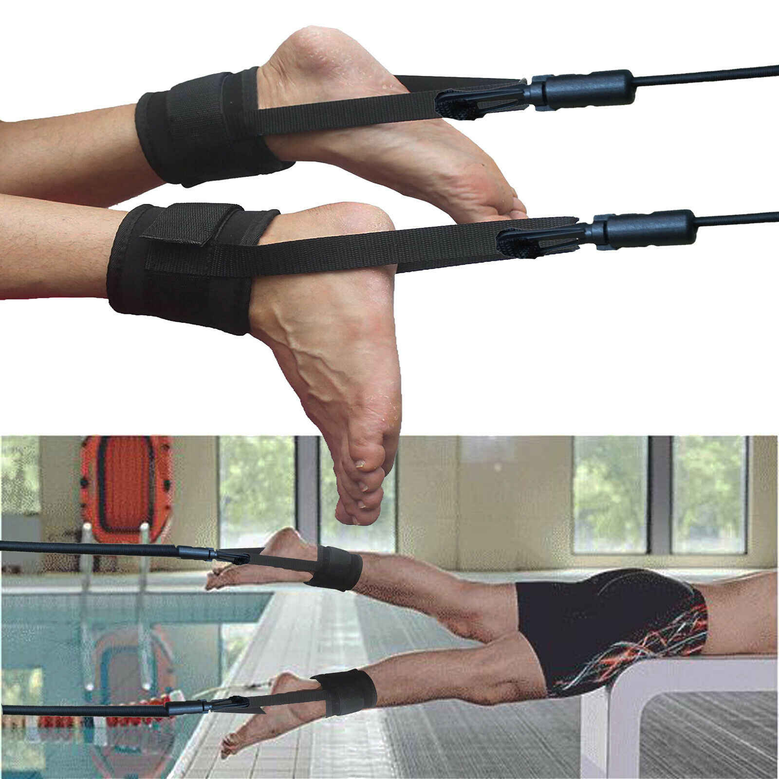 Swim Ankle Strap Stationary Swimmer Swim Lap Swim Training Leash Swim Belt - NEW