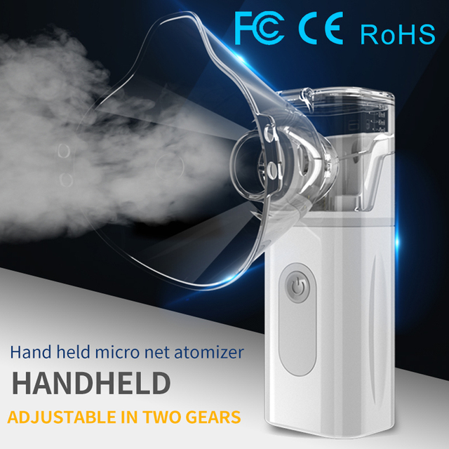 2020 Portable Mini Handheld nebulizer Adult children Health Care autoclean kid inhaler nebulizer nultrasonic home nebulizador