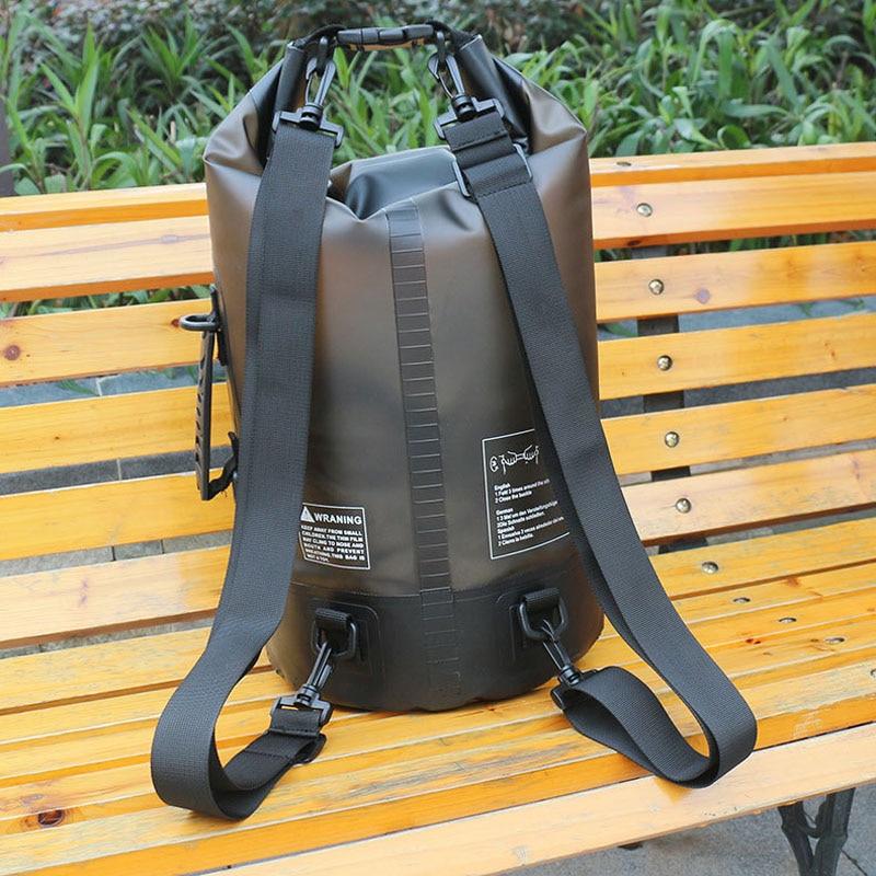 Newest 10L/20L Transparent Swimming Dry Bag Outdoor Travel Waterproof Dry Sack Backpack Men Women Seaside Beach Use Shoulder Bag 6