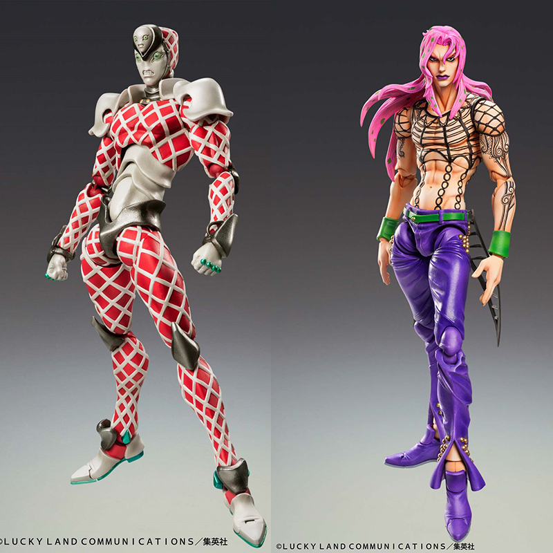 In stock Medicos JOJO Part 5 Diapolo Crimson King Handmade Character Statues Action Figures Decorations Collectibles image