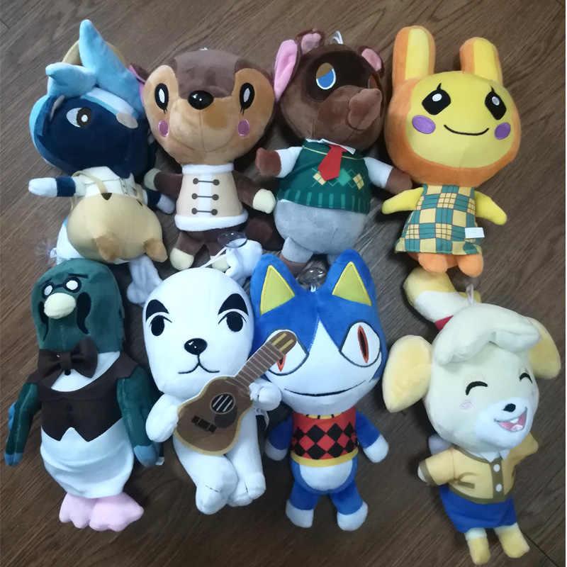 Di alta qualità 20 centimetri Simpatico cartone animato animali Gufo fulvo Scimmia bambola di pezza Giocattoli Animal Crossing giocattolo della peluche regali per i ragazzi ragazze