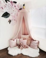 Cotton Kid Baby Bed Canopy Bedcover Mosquito Net Curtain Bedding Round Dome Tent Princess Room Tent Children Room Decoration