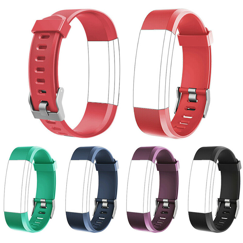 LYKRY 115 Plus Replacement Wristband Watch Band Silicone Strap HR Wristwatch Spare