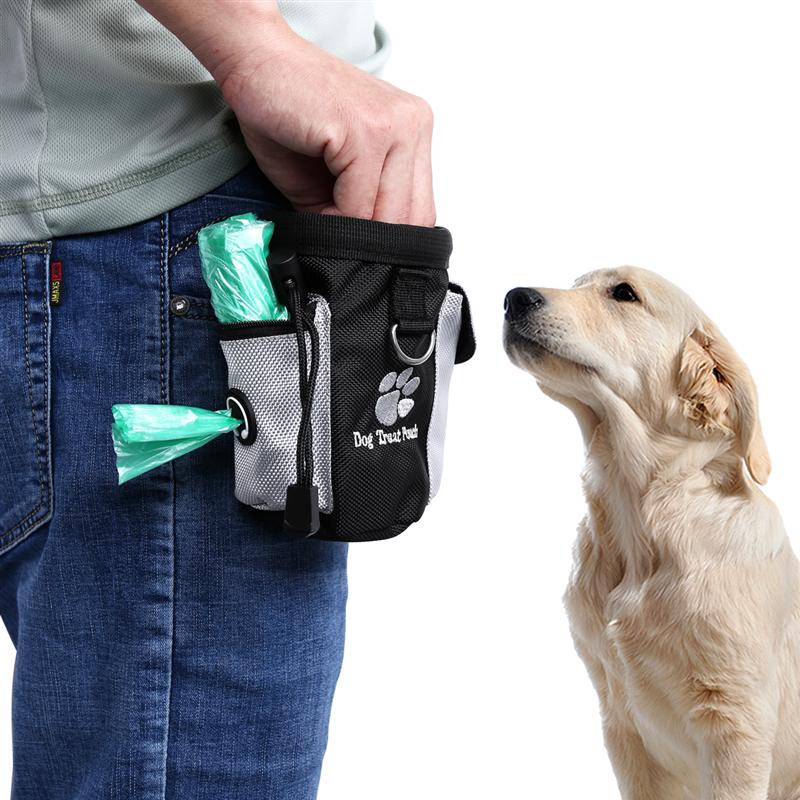 Dog Treat Pouch Pet Hands Free Training Waist Bag Drawstring Carries Pet Toys Dog Accessories Oxford Cloth Food Poop Bag Pouch 8