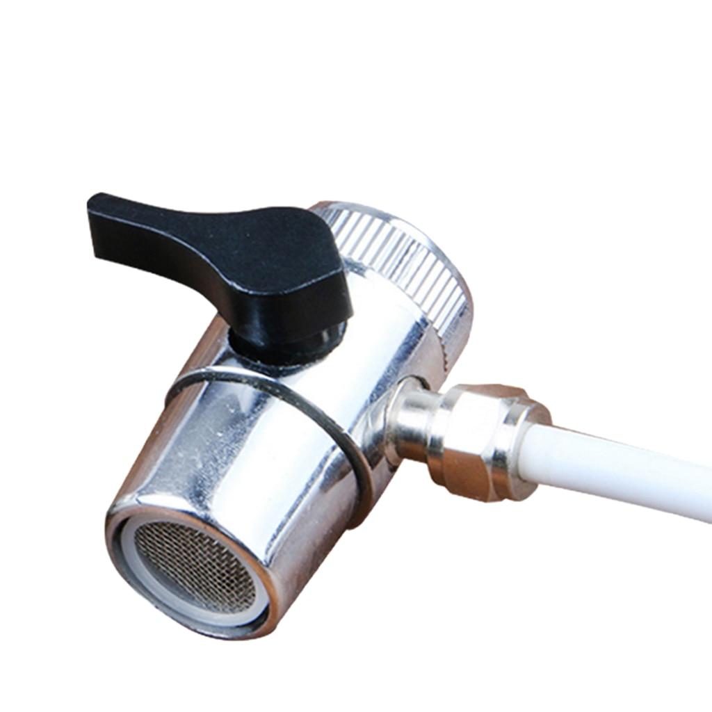 Valve Adapter Brass For Toilet Valve With Shut Off-3 Way Tee Water Diverter