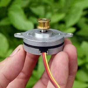 Wysokiej precyzji monitorowania silnik krokowy 0.9 stopni Ultra cienka 2-fazy 4-Wire Micro 36MM silnik krokowy miedzi synchroniczne koło pasowe